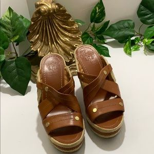 Vince Camuto Camel Wedges